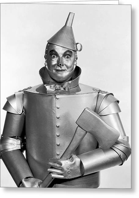 Academy Awards Oscars Greeting Cards - TINMAN - WIZARD of OZ Greeting Card by Daniel Hagerman