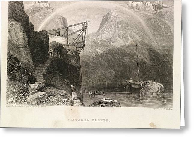 Tintagel Castle Greeting Card by British Library