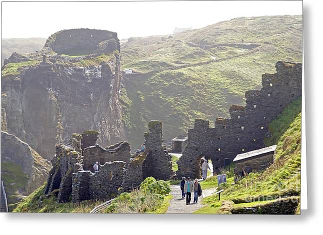 Tintagel castle Greeting Card by Rod Jones
