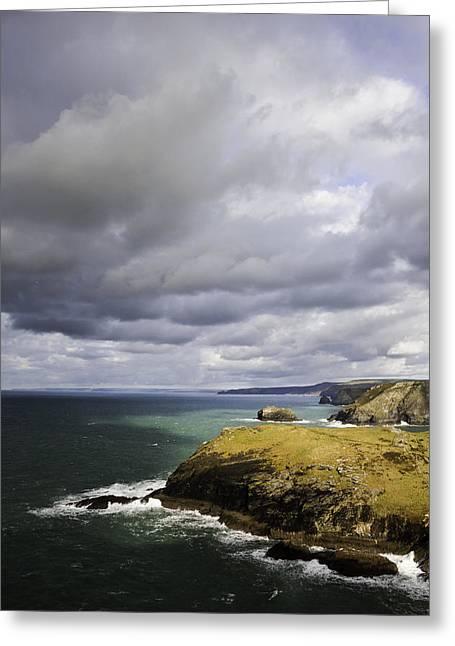 Tintagel Greeting Cards - Tintagel Coast Greeting Card by Kieran Brimson