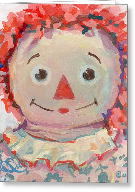 Calico Greeting Cards - Tiny Anne II Greeting Card by Kimberly Santini