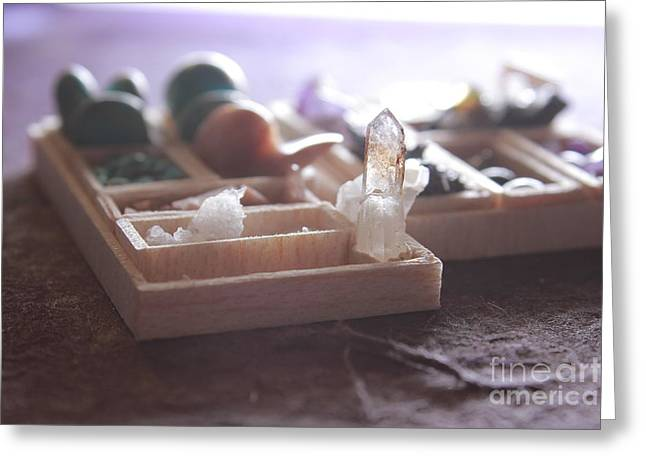 Valuable Objects Greeting Cards - Tiny crystals Greeting Card by Nannarin Suwanwihok