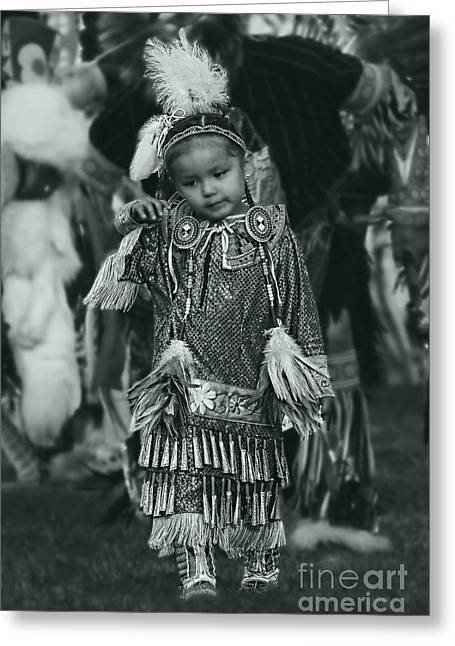 Fancy-dancer Greeting Cards - Tiny Dancer Native Girl Greeting Card by Scarlett Images Photography