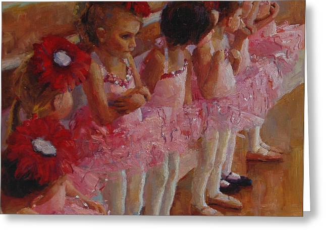 Tiny Dancers Greeting Card by Jeanne Young