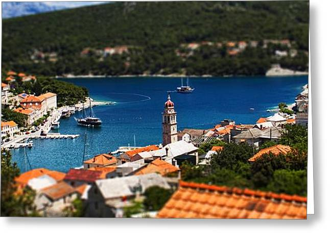 Rooftop Photographs Greeting Cards - Tiny Inlet Greeting Card by Andrew Paranavitana