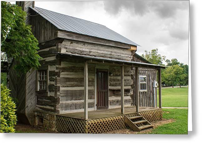 Log Cabins Greeting Cards - Tiny Log Cabin Greeting Card by Douglas Barnett