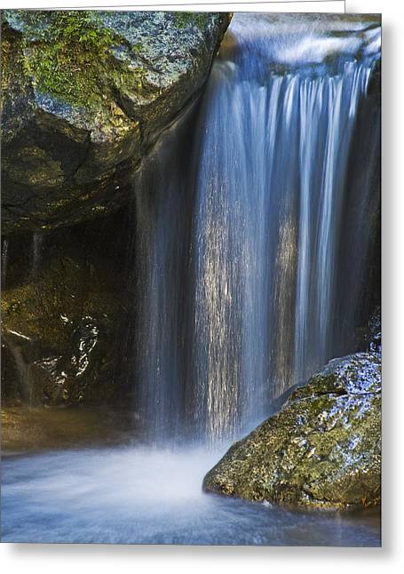 Northwestern Us Greeting Cards - Tiny Waterfall Greeting Card by Greg Vaughn