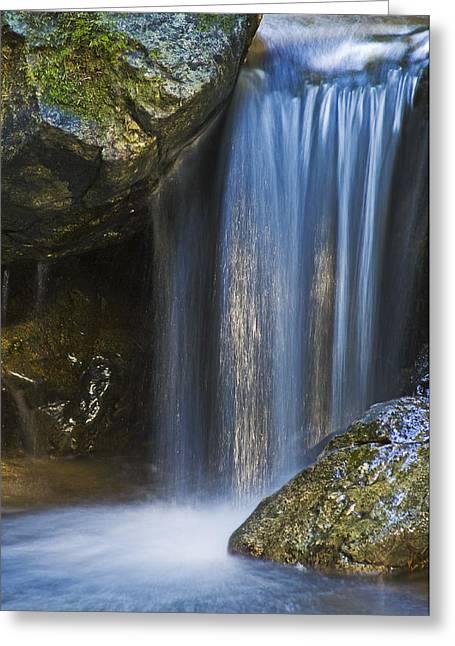 Tiny Waterfall Greeting Card by Greg Vaughn