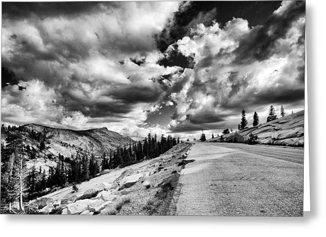 Road Greeting Cards - Tioga Pass Greeting Card by Cat Connor