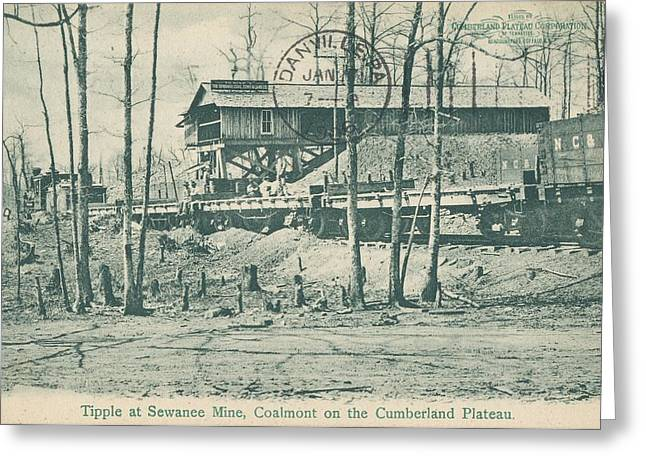 Mining Photos Greeting Cards - Tipple at Sewanee Mine - Coalmont on the Cumberland Plateau - Grundy County Tennessee Greeting Card by Cody Cookston