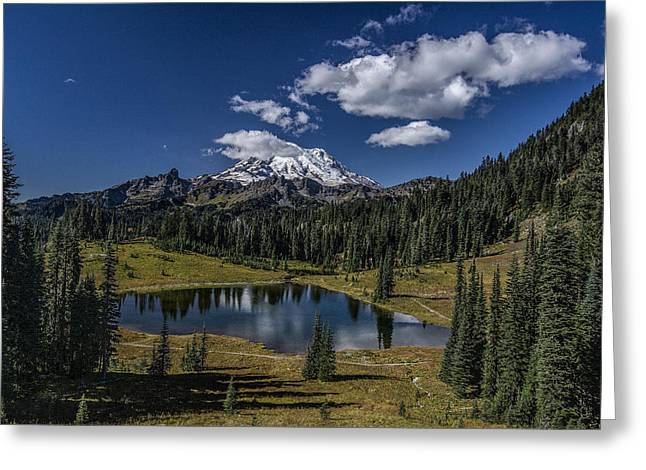 Public Issue Greeting Cards - Tipsoo Lake in MRNP Greeting Card by Mike Sedam
