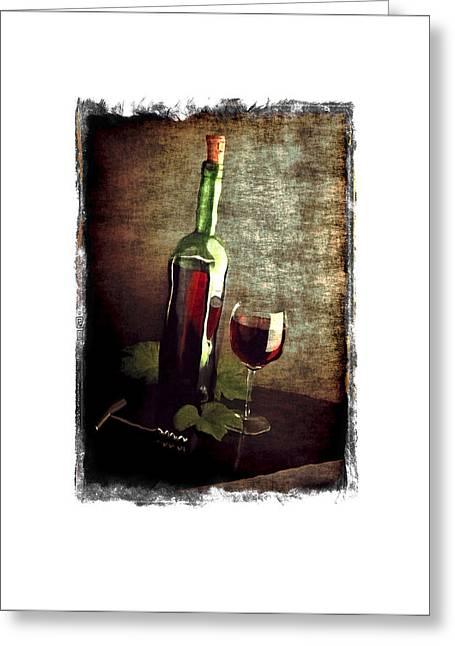 Tipsy Bottle Greeting Card by Roger Winkler