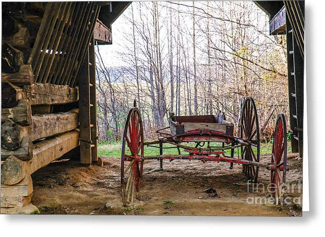 Tennessee Barn Greeting Cards - Tipton Cantilever Barn Greeting Card by Lynn Sprowl