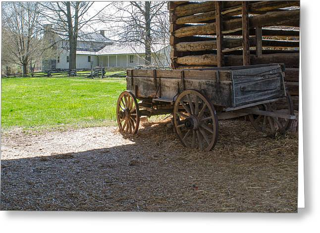 Cabin Corner Greeting Cards - Tipton Hayes Wagon 1 Greeting Card by Douglas Barnett
