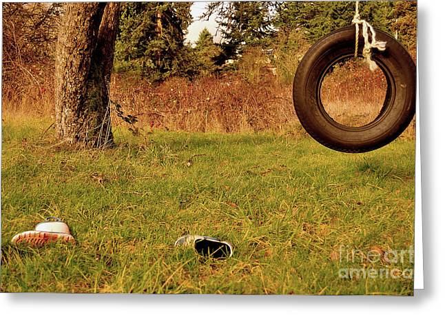 Must Have Greeting Cards - Tire Swing  Greeting Card by Aleksey Lavochin
