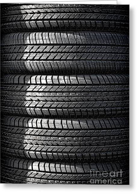 Tire Greeting Cards - Tire Tower Greeting Card by Olivier Le Queinec