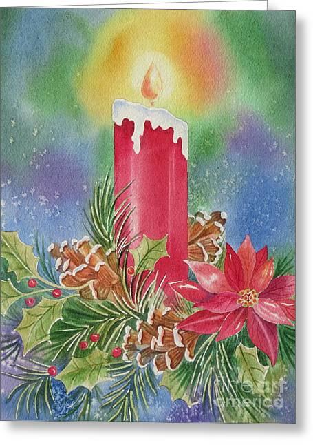 Pine Cones Greeting Cards - Tis the Season Greeting Card by Deborah Ronglien