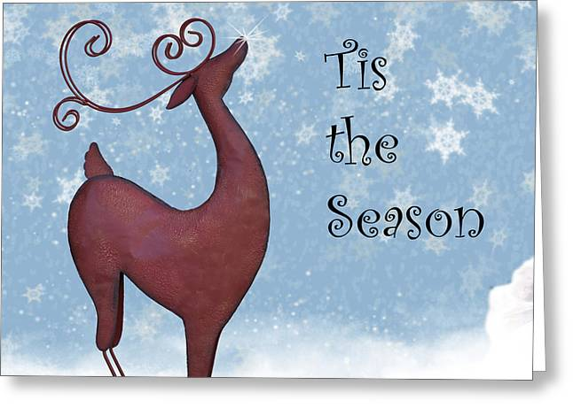 Reindeers Greeting Cards - Tis the Season Greeting Card by Juli Scalzi