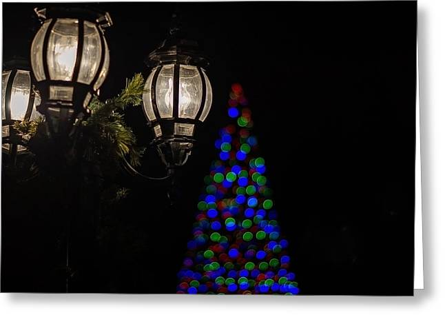 Torchlight Greeting Cards - Tis the Season Greeting Card by Linda Storm