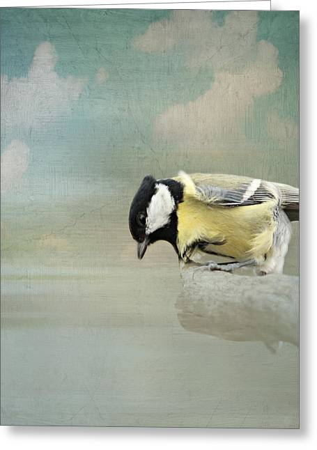 Mage Greeting Cards - Tit in the storm Greeting Card by Heike Hultsch