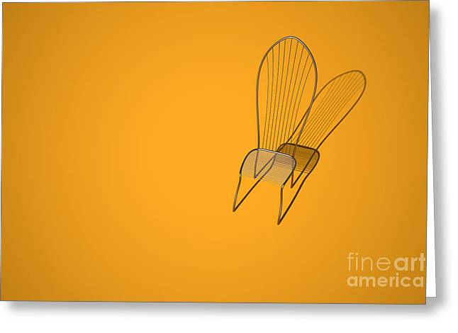 Empty Chairs Digital Greeting Cards - Titan Chair Greeting Card by Aleksey Tugolukov