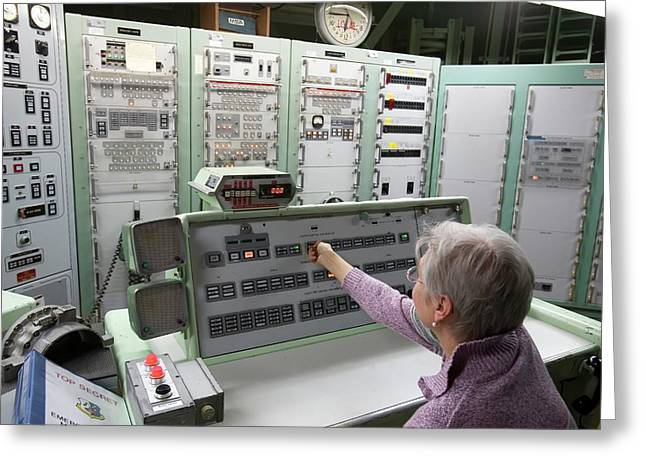 Titan Missile Control Room Greeting Card by Jim West