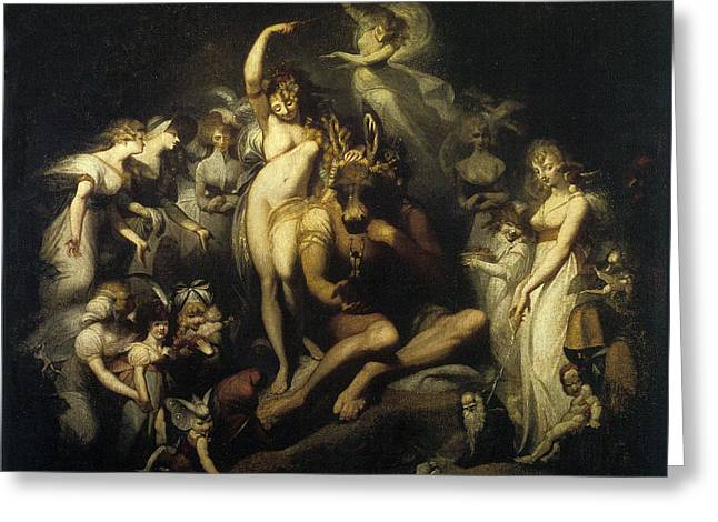Henry Fuseli Greeting Cards - Titania and bottom 1790 Greeting Card by Henry Fuseli