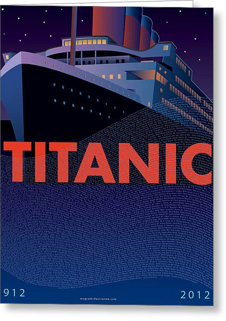 Best Sellers -  - Historic Ship Greeting Cards - TITANIC 100 years Commemorative Greeting Card by Leslie Alfred McGrath