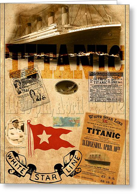 Star Line Greeting Cards - Titanic Greeting Card by Andrew Fare