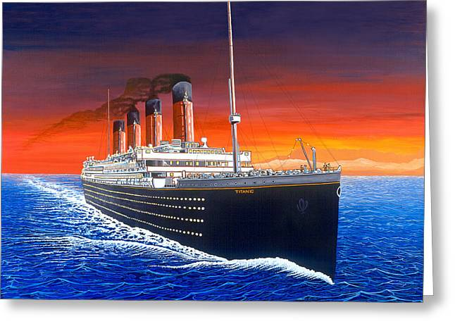 Titanic Greeting Card by David Linton