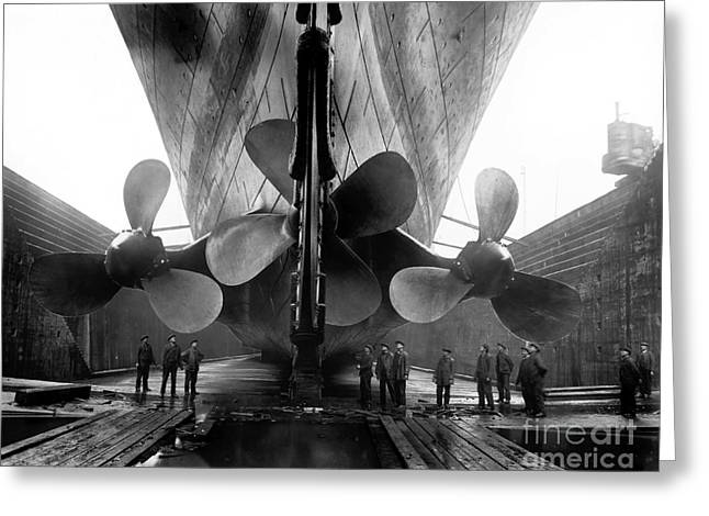 Belfast Greeting Cards - Titanic Propellers Greeting Card by Jon Neidert