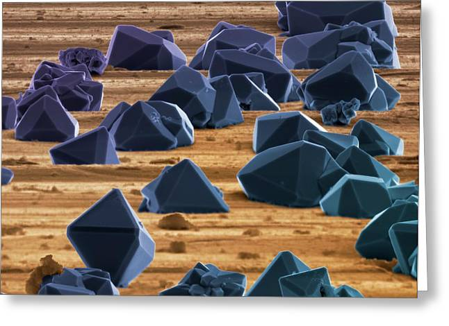 Titanium Microcrystals Greeting Card by Science Photo Library