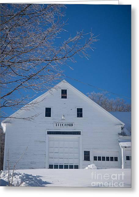 Maine Farms Greeting Cards - Titcomb Barn Greeting Card by Alana Ranney