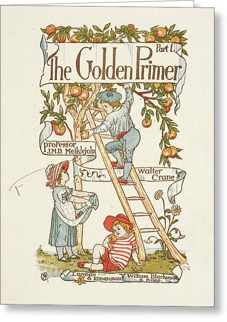 Title Page For The Golden Primer Greeting Card by British Library