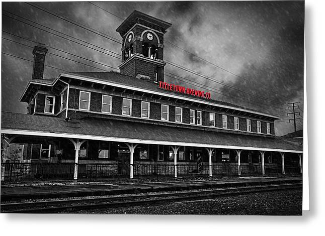 Donald Greeting Cards - Titletown Brewing Co - BW Greeting Card by Thomas Zimmerman