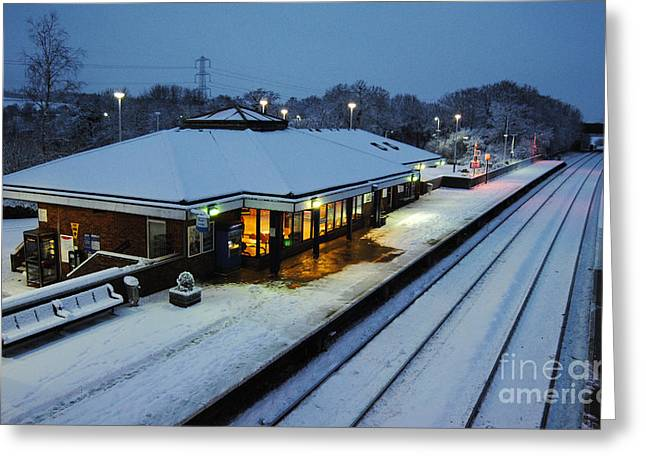 Peverell Greeting Cards - Tiverton Parkway in the snow Greeting Card by Rob Hawkins