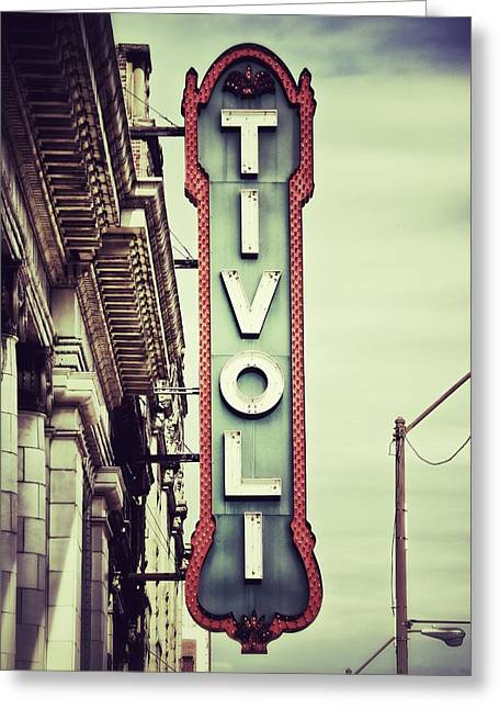 Showtime Greeting Cards - Tivoli Greeting Card by Brandon Addis