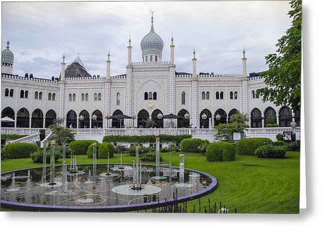 Pantomimes Greeting Cards - Tivoli Gardens - Nimb Hotel - Copenhagen Denmark Greeting Card by Jon Berghoff