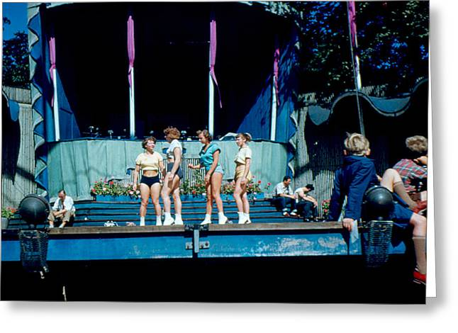 Outdoor Theater Greeting Cards - Tivoli Rehearsal 1953 Greeting Card by Cumberland Warden