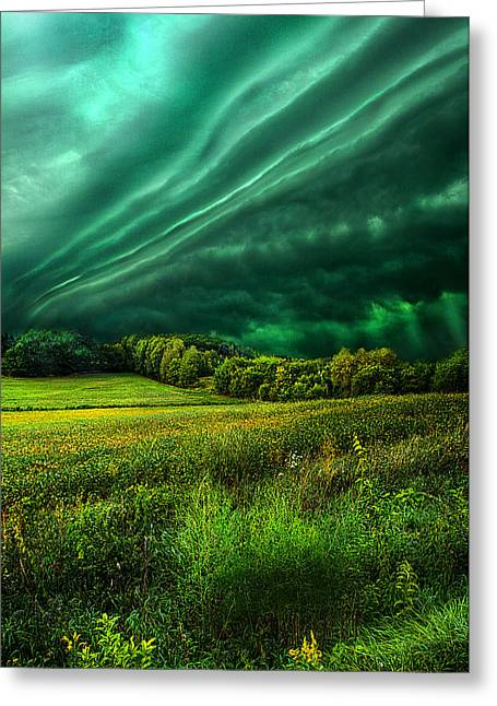 Summer Storm Greeting Cards - Take My Hand Greeting Card by Phil Koch