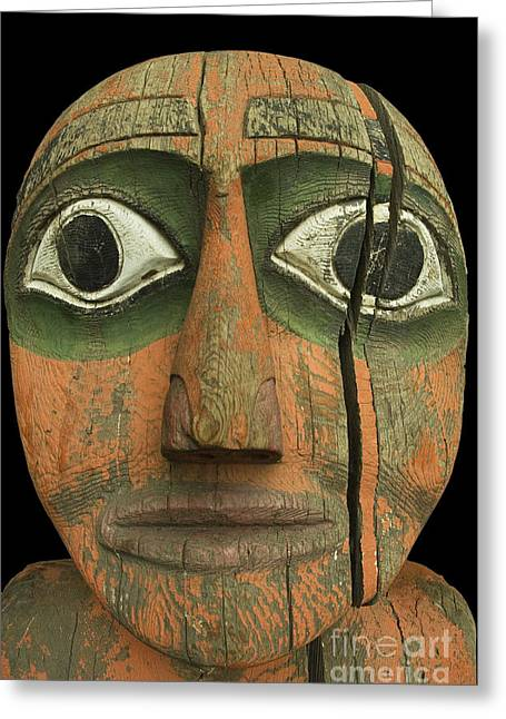 Tlingit Greeting Cards - Tlingit Figure Greeting Card by Ron Sanford