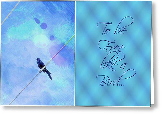 Downtown Portland Greeting Cards - To be free like a Bird Greeting Card by Cathie Tyler