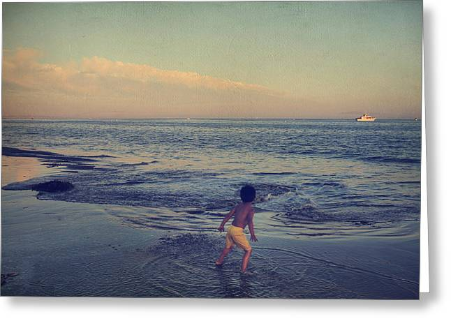 California Beach Greeting Cards - To Be Young Greeting Card by Laurie Search