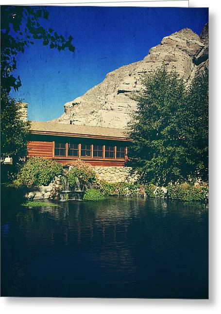 Cabin Window Greeting Cards - To Behold Greeting Card by Laurie Search