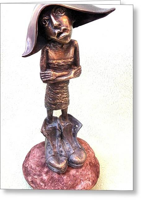 Boots Sculptures Greeting Cards - To Big Boots Greeting Card by Markus Czarne