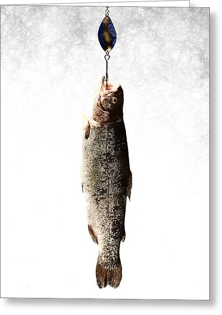 To Catch A Fish Greeting Card by Flo Karp