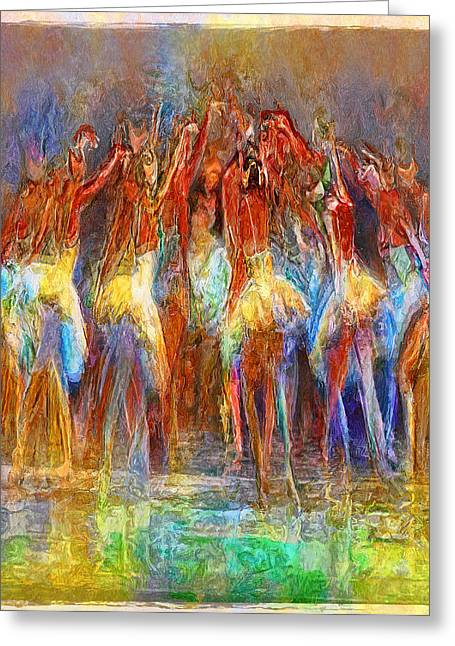 Ballet Dancers Greeting Cards - To Dance Together... Greeting Card by Lee Haxton