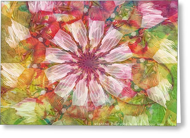New Year Greeting Cards - To Everyone Happy New Year Greeting Card by Deborah Benoit