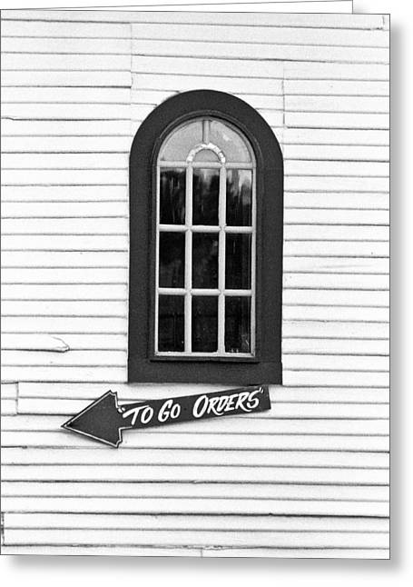 Ordering Greeting Cards - To Go Greeting Card by Will Gunadi