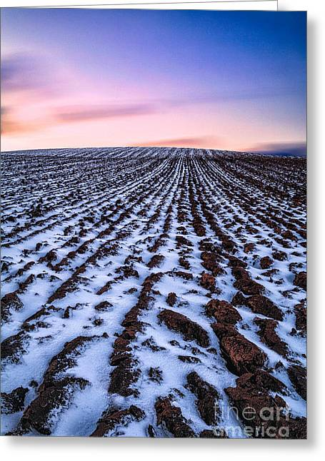 Fresh Snow Greeting Cards - To infinity Greeting Card by John Farnan